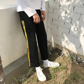 Ulzzang Korean-style child New style wind casual pants wide leg pants