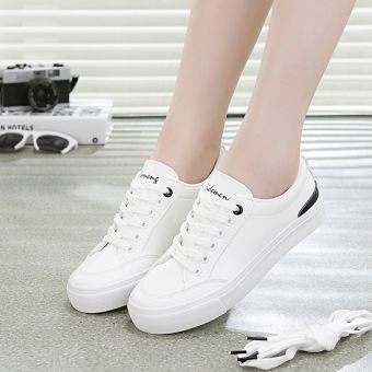 Ulzzang Korean-style female shoes autumn New style women's shoes (White and black)