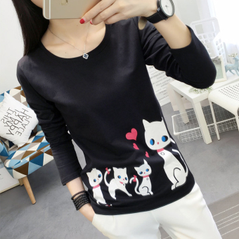 Ulzzang Korean-style New style student style heattech (Black)