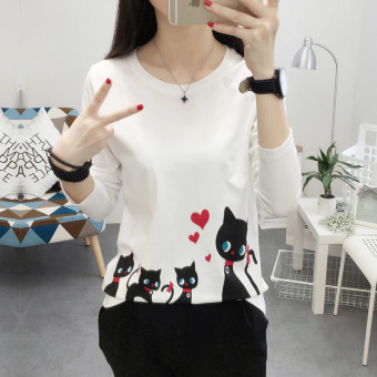Ulzzang Korean-style New style student style heattech (White)
