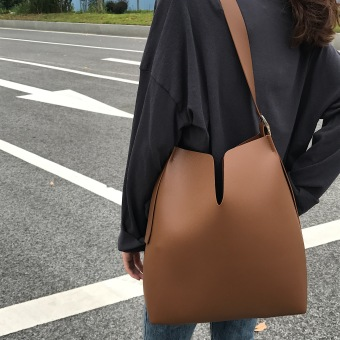 Ulzzang Korean-style New Style women's bag tote bag (Brown)