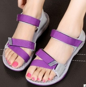 Ulzzang Shishang New style summer student sandals Korean-style sandals (Purple)