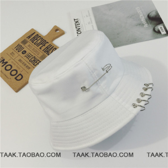 Ulzzang street dome male summer sun hat (White)