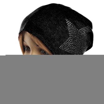 Unisex Autumn Winter Cotton Star Beanie Ski Baggy Knit Hat