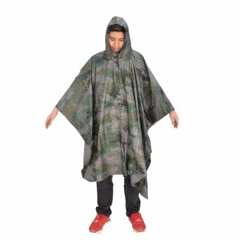 Unisex Digital Casual Poncho Water Proof Rain Coat (Minecraft)