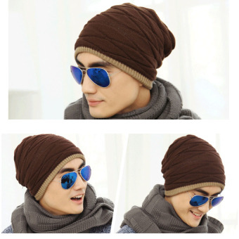 Unisex Fashion Arrival Beanies Knitted Hat Men's Winter Hats ForWomen Men Caps Gorros Warm Moto Fur Winter Beanie Fleece KnitBonnet Hat - intl Price Philippines