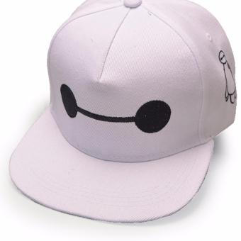 Unisex Fashion Baseball Cap Sports Golf Snapback Solid Hat ForMen/Women (BAYMAX-White) - 2