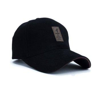 Unisex Fashion Baseball Cap Sports Golf Snapback Solid Hats For Men Bone( black) - 2