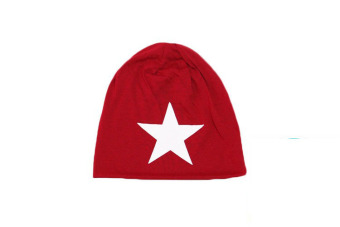 Unisex Five-Star Print Cotton Beanie Ski Caps Hedging Hats - picture 2