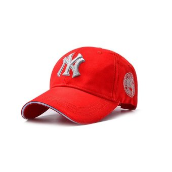Unisex Men Women Hats Caps Baseball Cap Leisure Joker Sun Hat - Red- intl Price Philippines