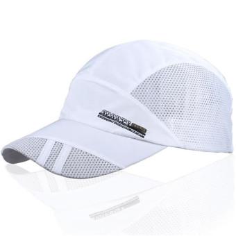 Unisex Mesh Quick Dry Adjustable Sport Snapback Cap White