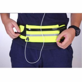 Unisex Travel Running Jogging Cycling Waist Sports Pack Belt BagPhone Pouch(GREEN)