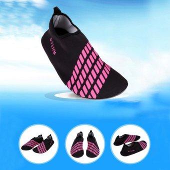 Unisex Ultra Soft Lightweight Diving Water Sport Shoes (Black Pink)- intl - 5
