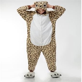 Unisex Women Men Adult Cosplay Costume Animal lovely Animal Sleepsuit Flannel Pajamas Winter Warm Sleepwear Costume Onesie - intl