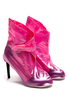 Unovo Over Shoes with Heels (Pink) - picture 3