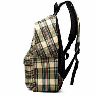 Urban Hikers Clyde Lash Tab Casual Backpack (Light Brown Checkered) - 3