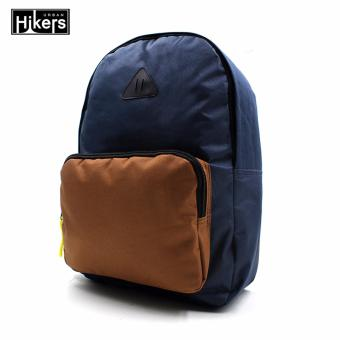 Urban Hikers Halsey Casual Backpack (Navy Blue/Brown)