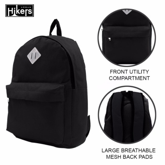 Urban Hikers Lash Tab Casual Backpack (Plain Black)