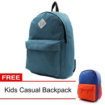 Urban Hikers Lash Tab Casual Backpack (Stone Blue) with FREE KidsCasual Backpack
