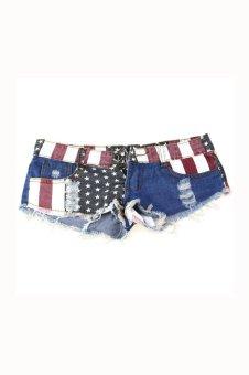US Flag Mini Shorts - Multicolour