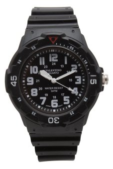 Valentino Men's Black Rubber Strap Watch 20121811