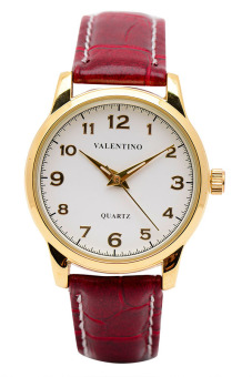 Valentino Women's Red Leather Strap Watch 20121245