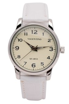 Valentino Women's White Leather Strap Watch 20121245