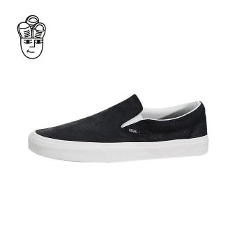 Vans Classic Slip-On Lifestyle Shoes Black / White vn0a38f7os3 -SH