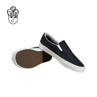 Vans Classic Slip-On Lifestyle Shoes Black / White vn0a38f7os3 -SH - 3