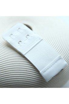 Velishy Bra Extenders Lengthened Adjustable Buckle 2 Hooks White