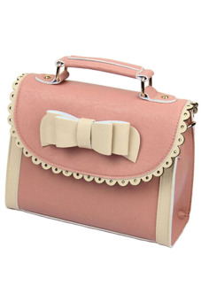 Velishy Handbags Tote Leather Bag Pink