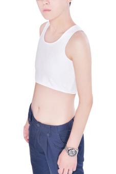 Velishy Short Chest Vest Breathable Buckle Binder Trans (White) - picture 2