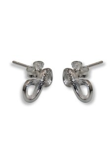 Venice SSE-114 Infinity Stud Earrings (Silver) - picture 2