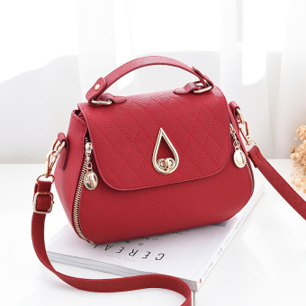 Versatile bag New style autumn women's shoulder bag women's bag (Red Wine)