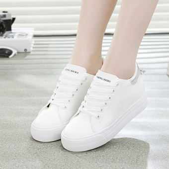 Versatile female breathable muffin shoes BayMini shoes (And white gray)