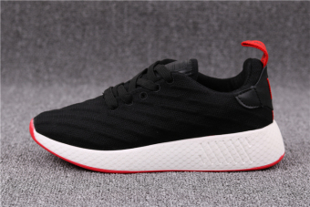 Versatile female New style mesh running shoes casual women's shoes (Black)
