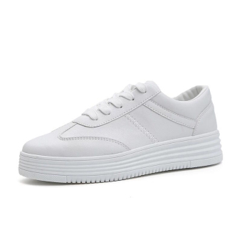 Versatile Plus velvet students fall shoes white shoes (Female Models + White)