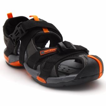 Vertigo Komodo Sandals (Black/Orange)