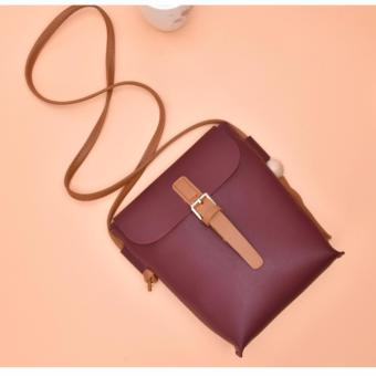 Very Nice Ladies PU Leather Tassel Sling Bag (Maroon)