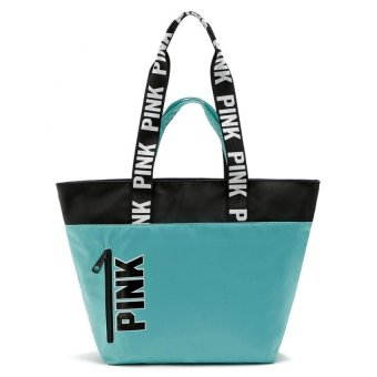 Victoria's Secret Weekender Nylon Tote Bag (turquoise)