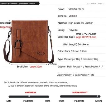 59f5b5138932 ... VICUNA POLO Unique Buckle Design Irregular Cover Open MensMessenger Bag  2 Sizes Business Men Crossbody Bag ...