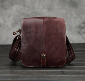 Vintage genuine crazy horse leather Men's shoulder bag cross body bag - intl - 2