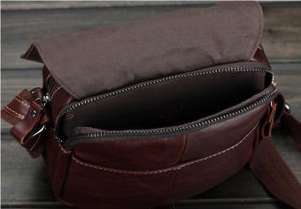 Vintage genuine crazy horse leather Men's shoulder bag cross body bag - intl - 5