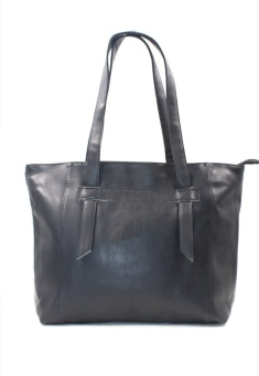 Vintage Paris Amber Leather Shoulder Bag (Black)