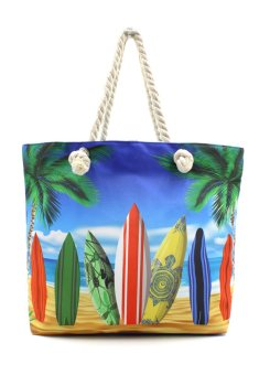 Vintage Paris Summer Surf Board Beach Tote Bag