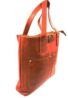Vintage Paris Veron Leather Shoulder Bag (Dark Brown) - 3