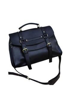 Vintage Women Purse Messenger Satchel Shoulder Bag Handbag (Black)