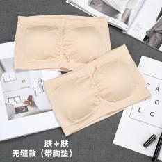 a3e74981f8 Viscose fibre traceless boob tube top wrap-around base underwear dress  (Seamless (with