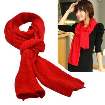 Vococal Fashionable Women Winter Warm Wool Knit Infinity ScarfShawl Red Price Philippines
