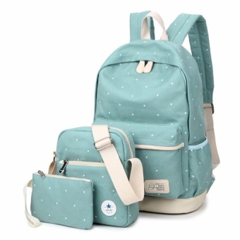 VOYAGE Fashion Floral Lace+Canvas Women Backpack School bag ForTeenagersGirls Back Pack School bags Bagpack Mochila ( 3 Pieces -intl Price Philippines